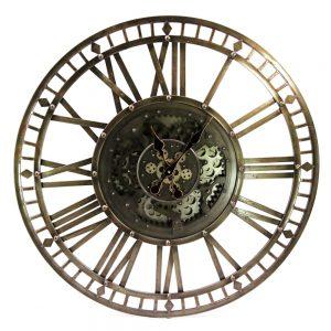 Bronze Skeleton Wall Clock