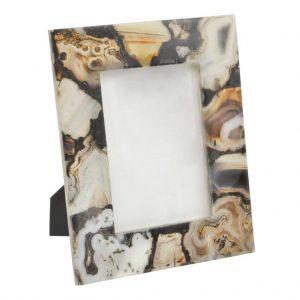 Natural Brown Agate Photograph Frame