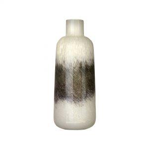 Voyage White & Grey Glass Vase Tall