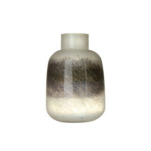 Voyage White & Grey Vase Small