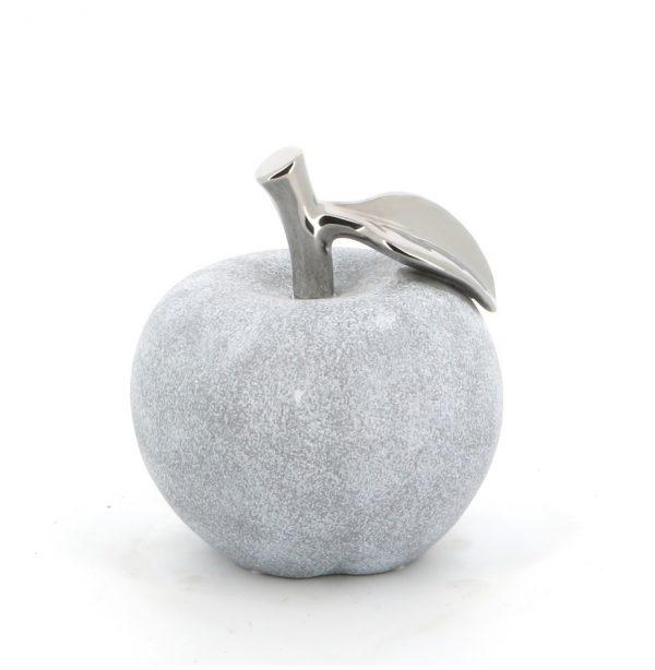 White Wash & Chrome Apple Large