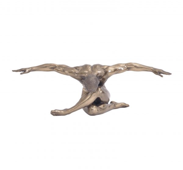 Male Bronze Figure with Arms Outstretched