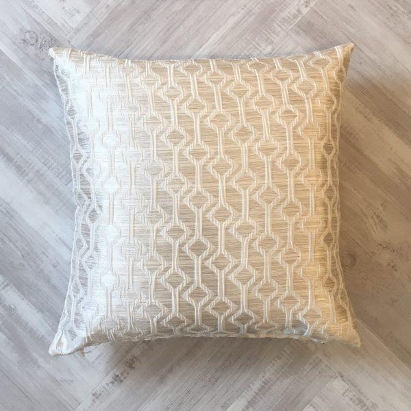 Ashley Wilde Ivory Geometric Cushion