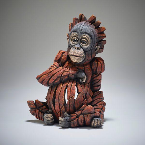 Edge Carved Baby Orangutan Scuplture