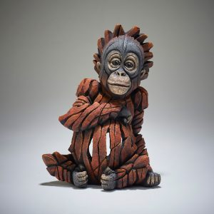 Edge Carved Baby Orangutan Scuplture