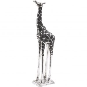 Black & Silver Giraffe Head Forward Figure