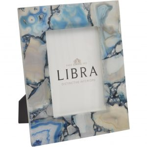 Bright Blue Agate Photograph Frame