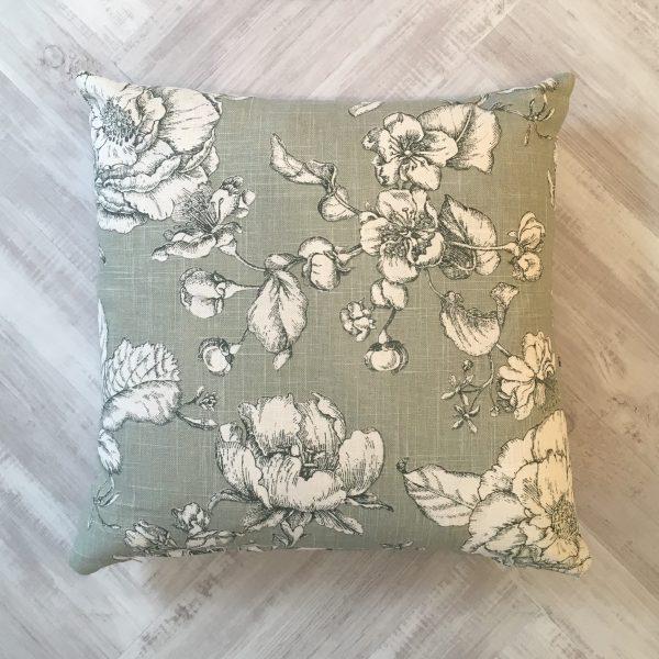 Prestigious Textiles Green Floral Cushion