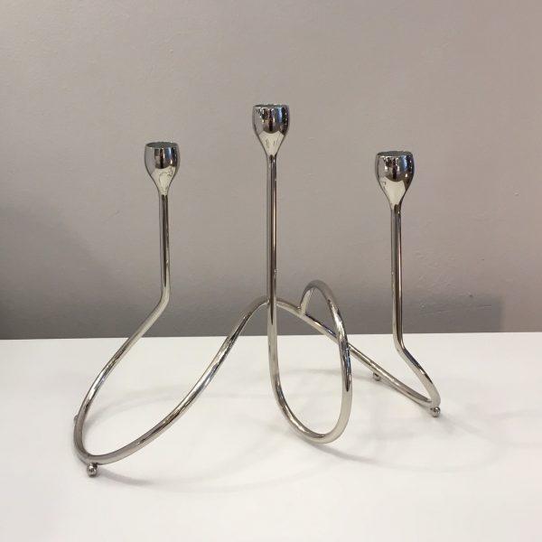 Modern Metal Candelabra