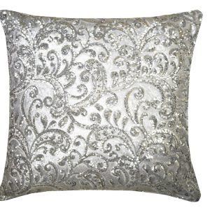 Silver Sequined Cushion