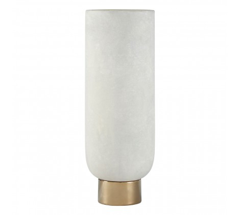 Ceramic Cream & Gold Vase