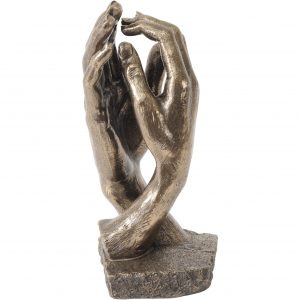 Bronze Clasping Hands Sculpture