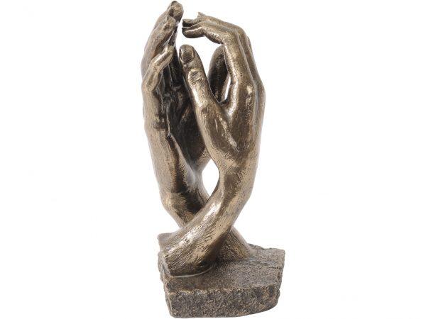 Bronze Clasping Hands Sculpture