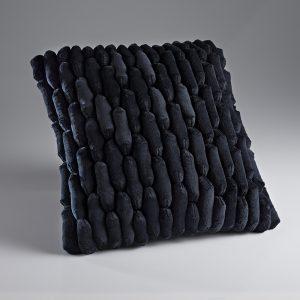 Cobble Black Cushion