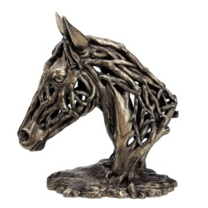 Bronze Drift Wood Style Horses Head