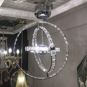 crystal rings ceiling light