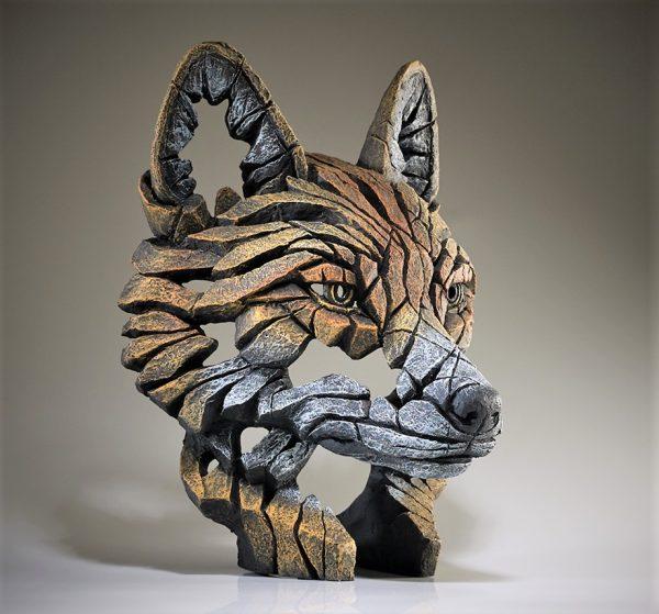 Carved Fox Head Sculpture