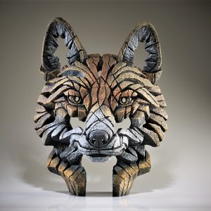 Carved Fox Head Sculpture