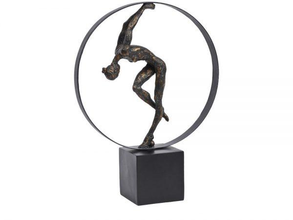 Bronze Gymnast Female in Hoop Scuplture