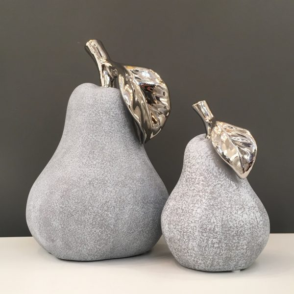 Stone & Chrome Finish Pears