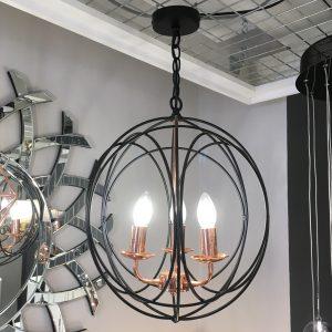 black and copper light