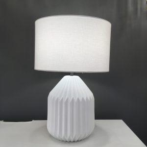 white ceramic lamp with white shade