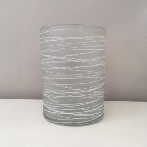 white and glass vase