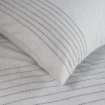 Boys Grey Bedding with Stitched Detail