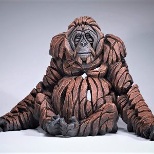 Carved Orangutan Sculpture