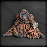 Edge Orangutan & Baby Sculptures