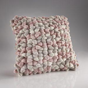 Pink and Cream Soft Pebble Cushion
