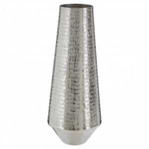 Textured Silver Vase