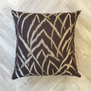 Today Interiors Purple and Gold Cushion