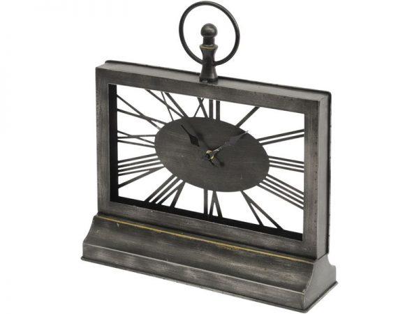 Bronze& Glass Skeleton Mantel Clock