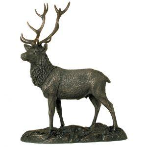 Bronze Stag Figure