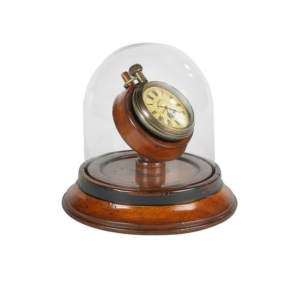 Victorian Pocket Watch in Glass Dome