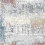 Rug with Rust, Blue, Red & Cream Modern Pattern