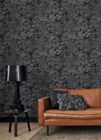 BN Moods Black 3D Flowery Wallpaper