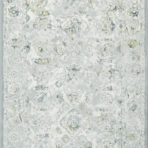 Faded Traditional patterned rug predominantly grey