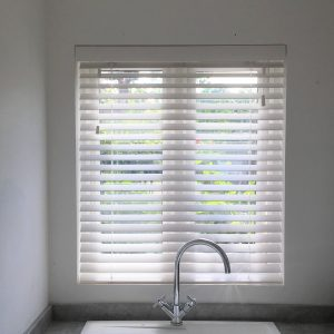 White Faux Wood Venetian Blind