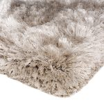 Heavy weight shaggy rug in a golden sand colour