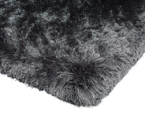 Heavy weight shaggy rug in a strong slate/dark grey colour
