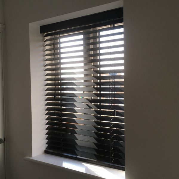 Black Wooden Venetian Blind