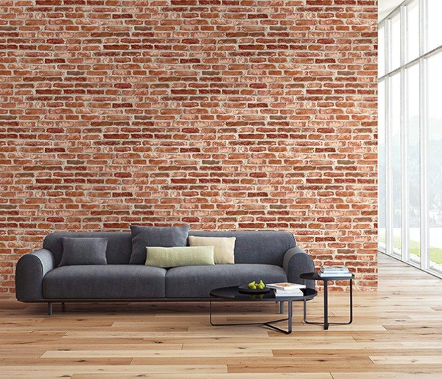 Today Interiors Wallpaper Red Brickwork