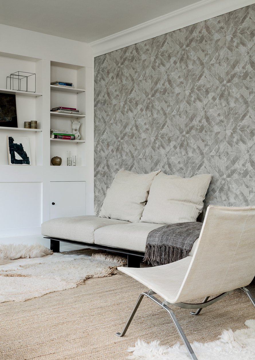 Today Interiors Wallpaper Grey Diamond