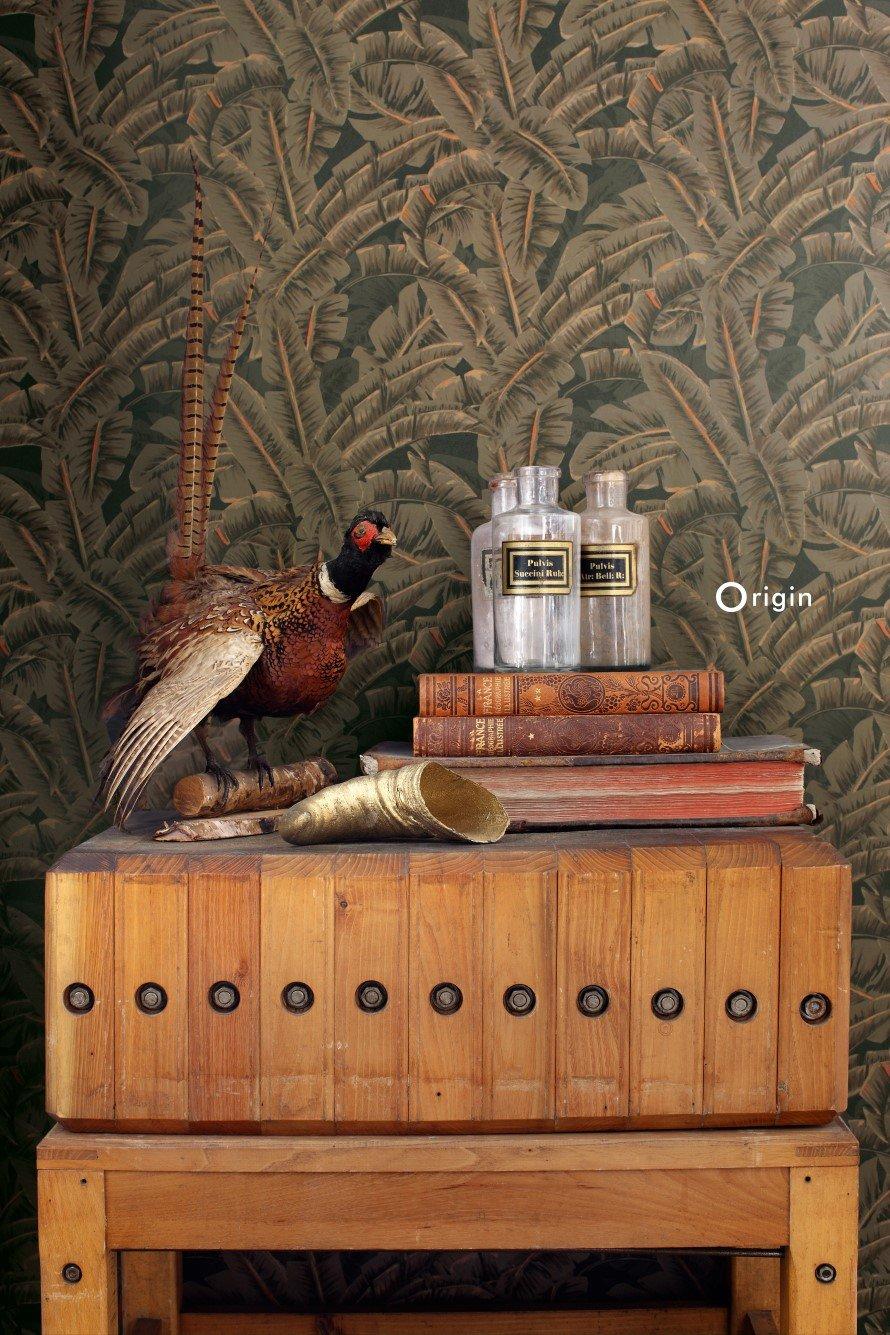 Today Interiors Wallpaper Dark Green Jungle