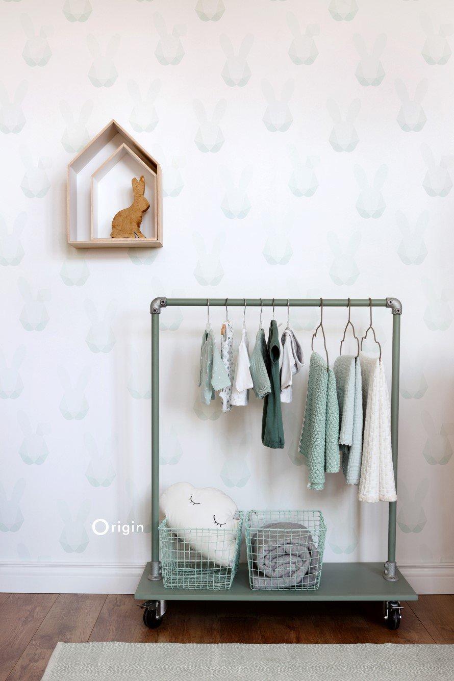 Today Interiors Wallpaper Duck Egg Bunnies