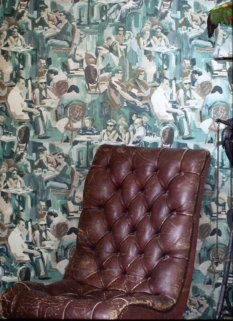 Today Interiors Wunderkammer Blue People Wallpaper