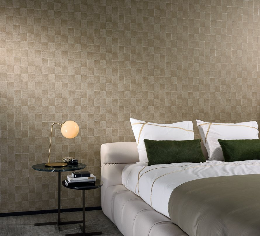 Today Interiors Wallpaper Gold Square Tiles