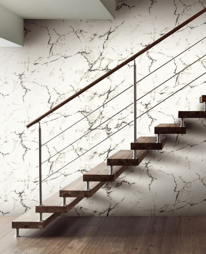 Tektura Wallpaper Black & White Marble
